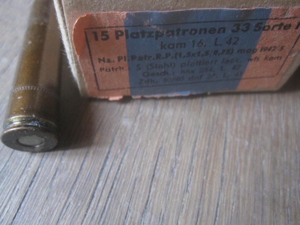 Boites de 50 platzpatronen 33 Img_2522