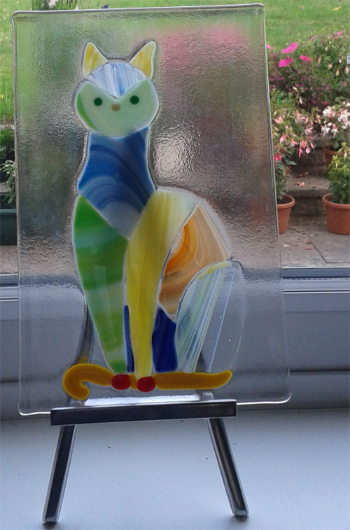 Glass fused piece Kitty_10