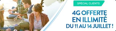 Week-end Data illimitée du 11 au 14 juillet pour les clients  Bouygues Telecom 14361710