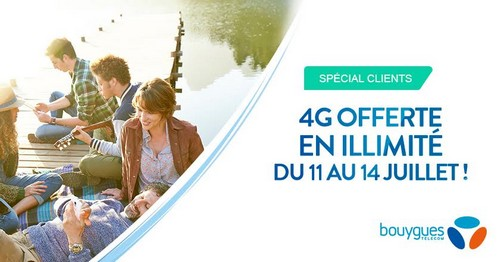 Week-end Data illimitée du 11 au 14 juillet pour les clients  Bouygues Telecom Weillj10