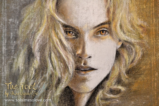 """""""The Fool"""" (pastel sur lin) _thefo11"""