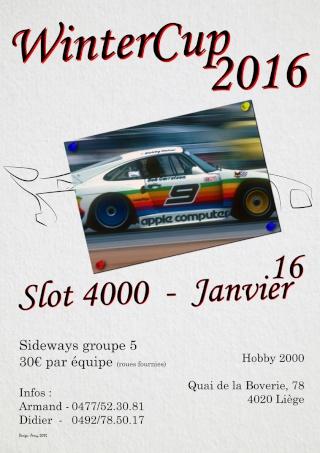 8 heures Gr. Sideways Slot4000 le 16 janvier Winter12