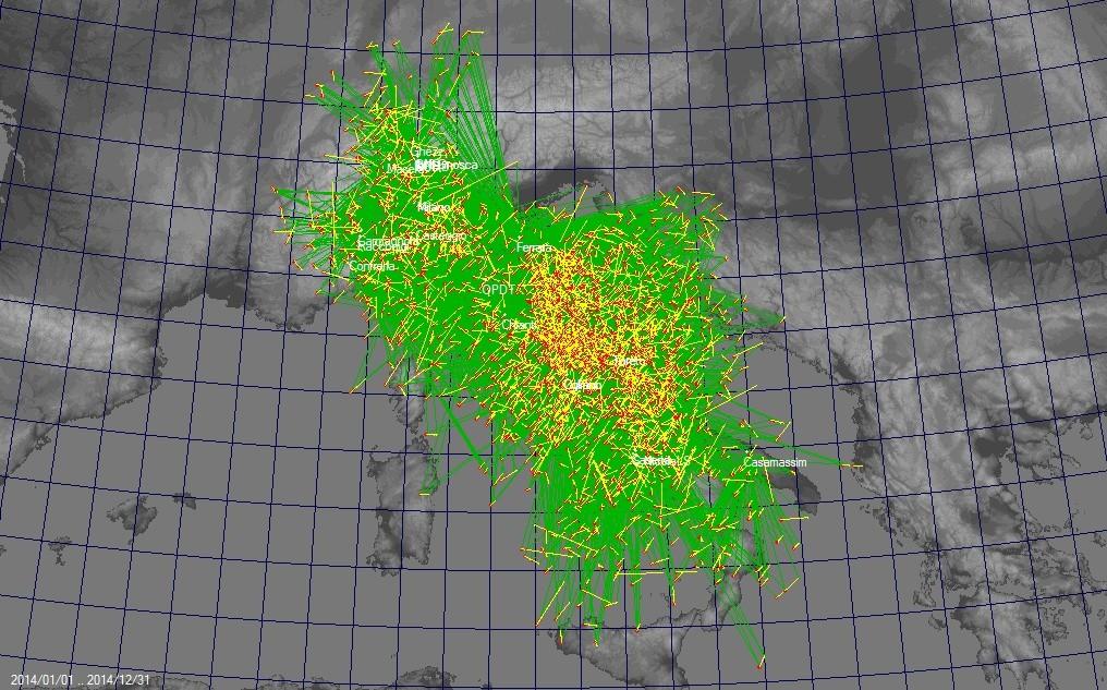 Mappa Triangolazioni IMTN 2014 Triang12