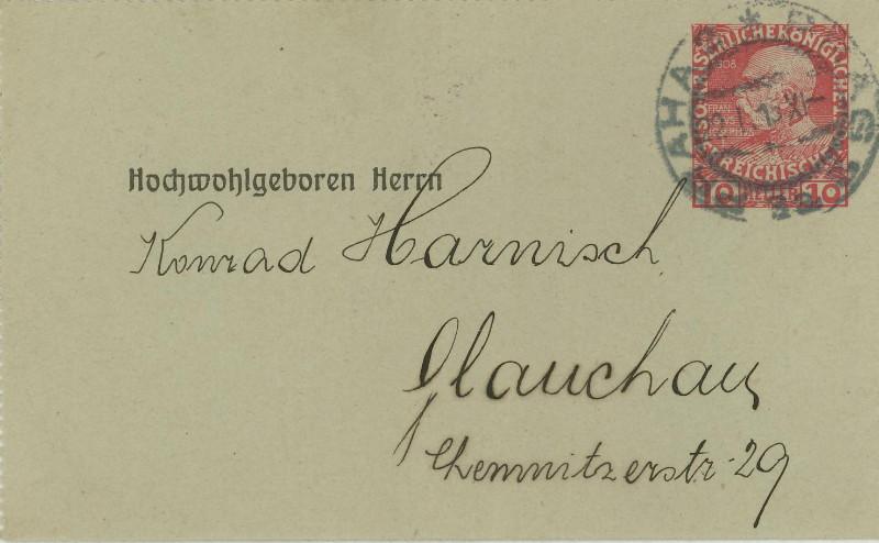 Amtliche Kartenbriefe mit privaten Textzudrucken 00111