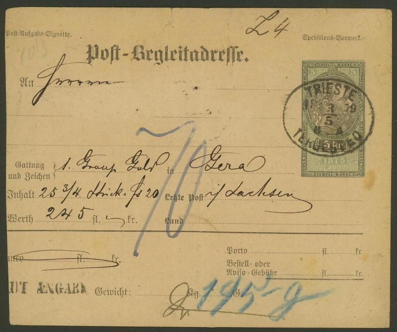 Postbegleitadressen mit fiskalischem Werteindruck 001_tr11