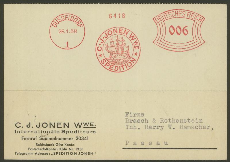 1945 - Freistempel / Absenderfreistempel Deutsches Reich (bis 1945) Dyssel10