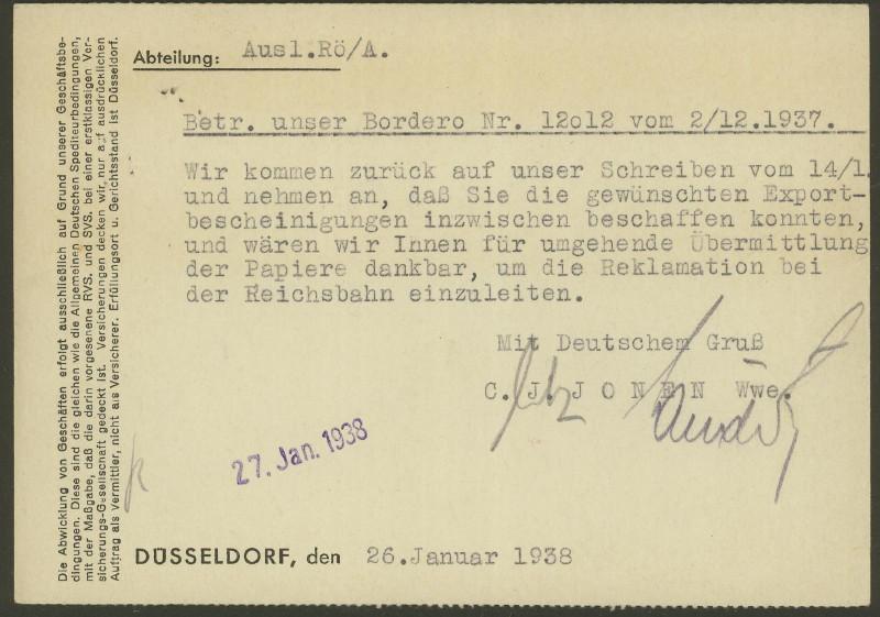 1945 - Freistempel / Absenderfreistempel Deutsches Reich (bis 1945) Dyssel11