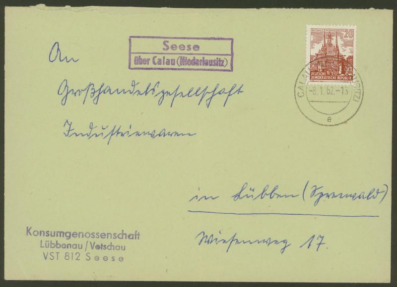 Deutschland  -  Landpoststempel (Poststellenstempel) Seese_10