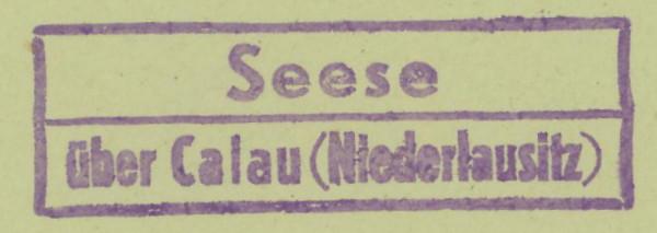 Deutschland  -  Landpoststempel (Poststellenstempel) Seese_11