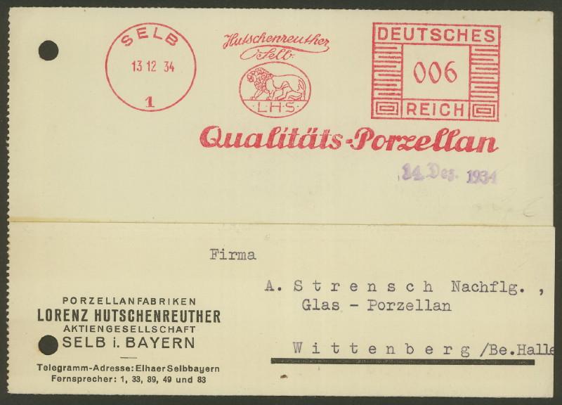 1945 - Freistempel / Absenderfreistempel Deutsches Reich (bis 1945) Selb_110