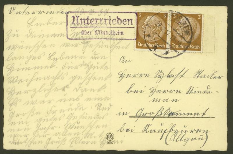 Deutschland  -  Landpoststempel (Poststellenstempel) Unterr10
