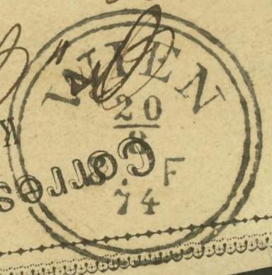 Die Poststempel von Wien Wien_210