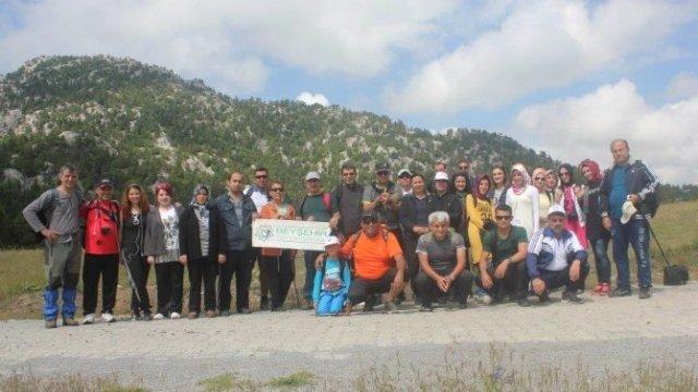 Beyşehir'de Çamlık Mağaraları Yürüyüşü Gerçekleştirildi Beyseh10
