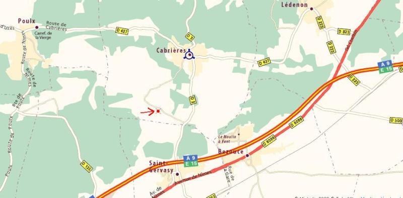 Accès Circuit de Cabrières Plan111