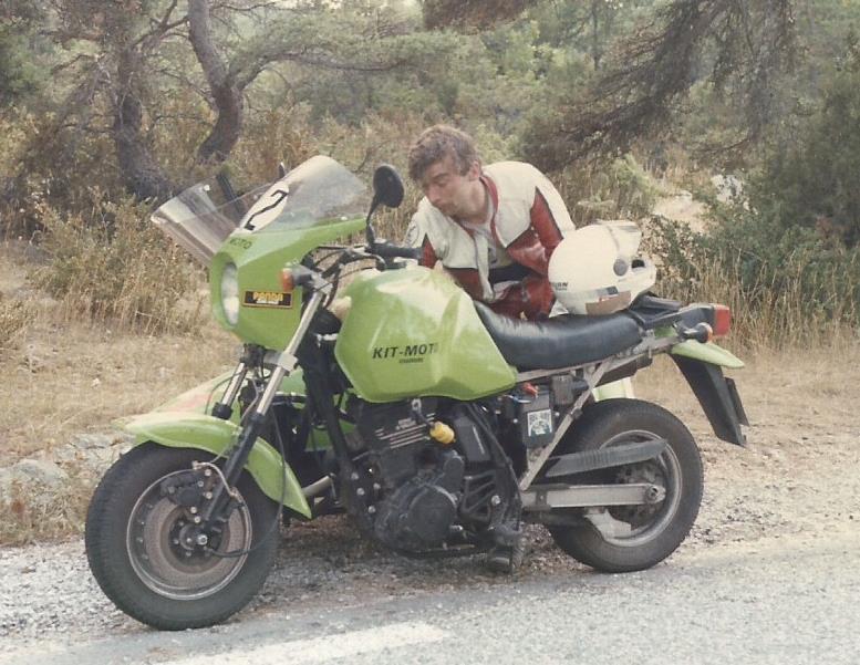 Triump 1200 XCX  -  Kawasaki 600 KLR + Side 1985_410