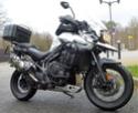 Triump 1200 XCX  -  Kawasaki 600 KLR + Side P1150914