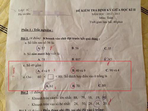 Những đề toán 'bá đạo' khiến học sinh chào thua 75460910