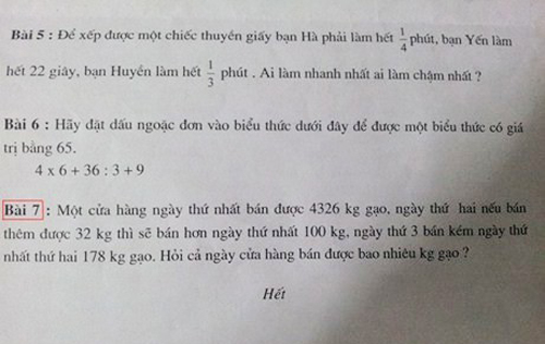 Những đề toán 'bá đạo' khiến học sinh chào thua 75460915