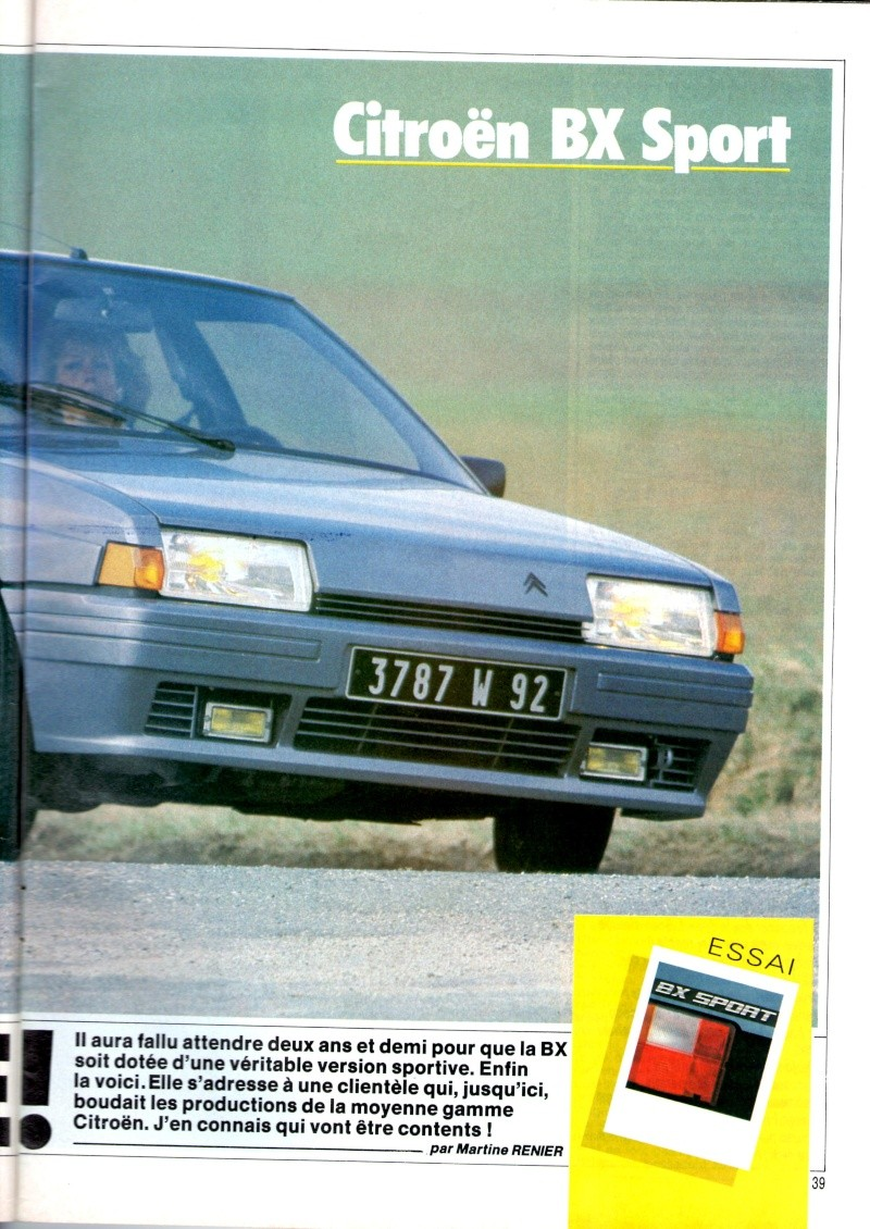 Essai de la BX Sport de AUTO HEBDO(n°464 du 28/03/1985) Img00120