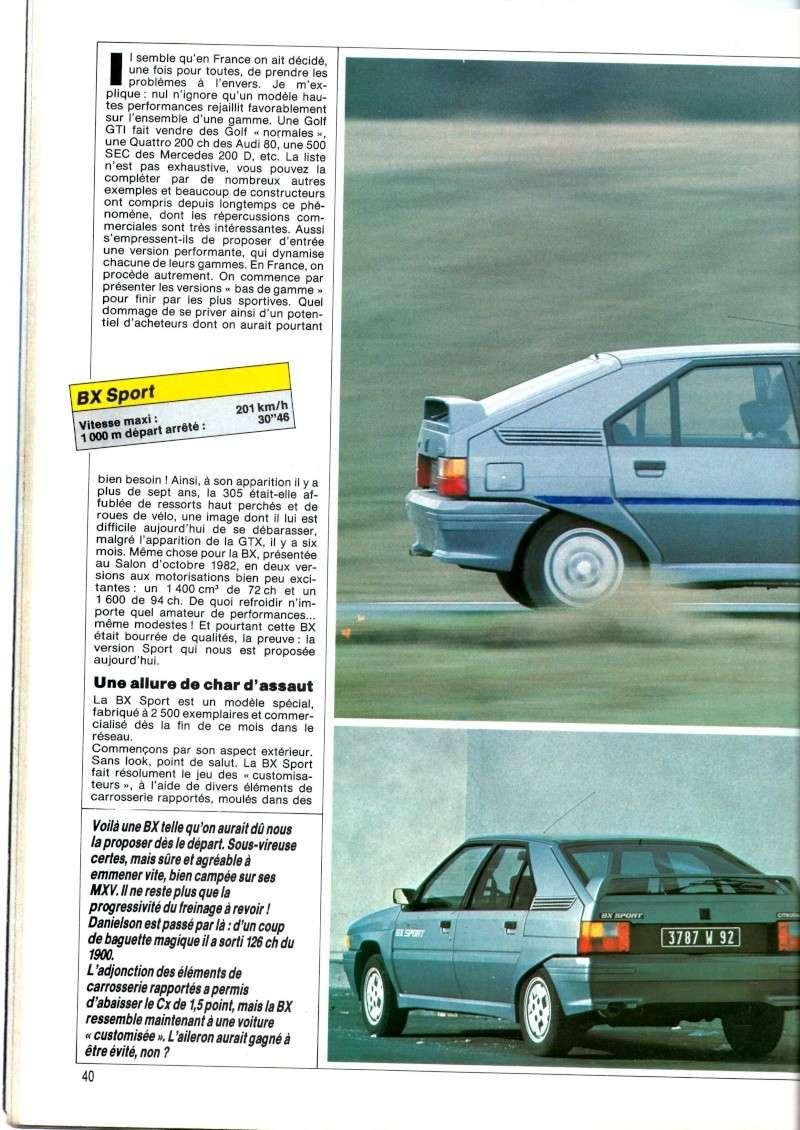 Essai de la BX Sport de AUTO HEBDO(n°464 du 28/03/1985) Img00221