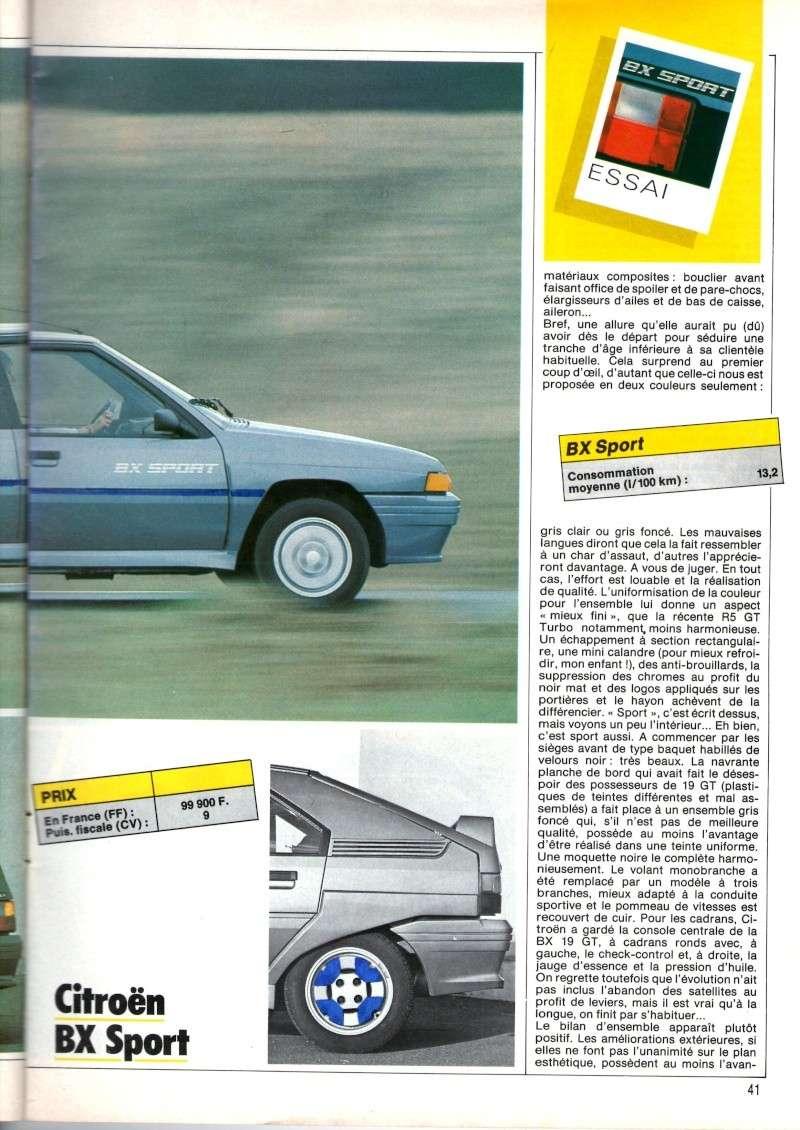 Essai de la BX Sport de AUTO HEBDO(n°464 du 28/03/1985) Img00420