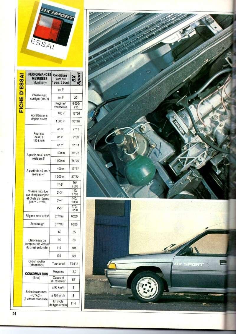 Essai de la BX Sport de AUTO HEBDO(n°464 du 28/03/1985) Img00815