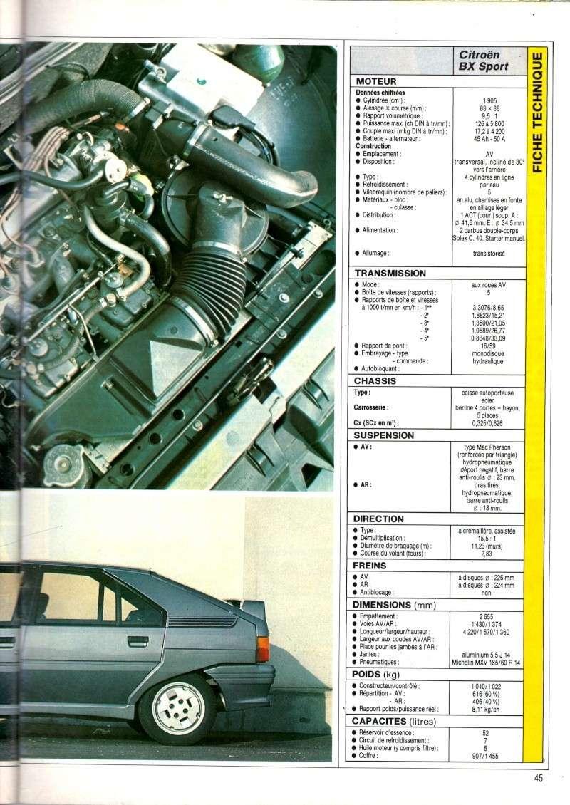 Essai de la BX Sport de AUTO HEBDO(n°464 du 28/03/1985) Img00913
