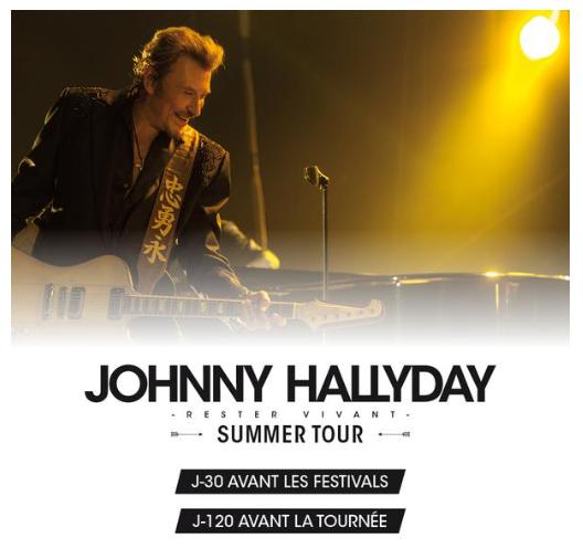 """Tournée 2015/2016 de johnny """"RESTER VIVANT """" Dates de tournée et Part 1 les festivals 11377310"""