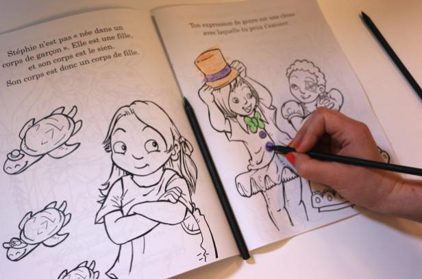 Du coloriage pour sensibiliser les enfants aux enjeux trans. Actu-c10