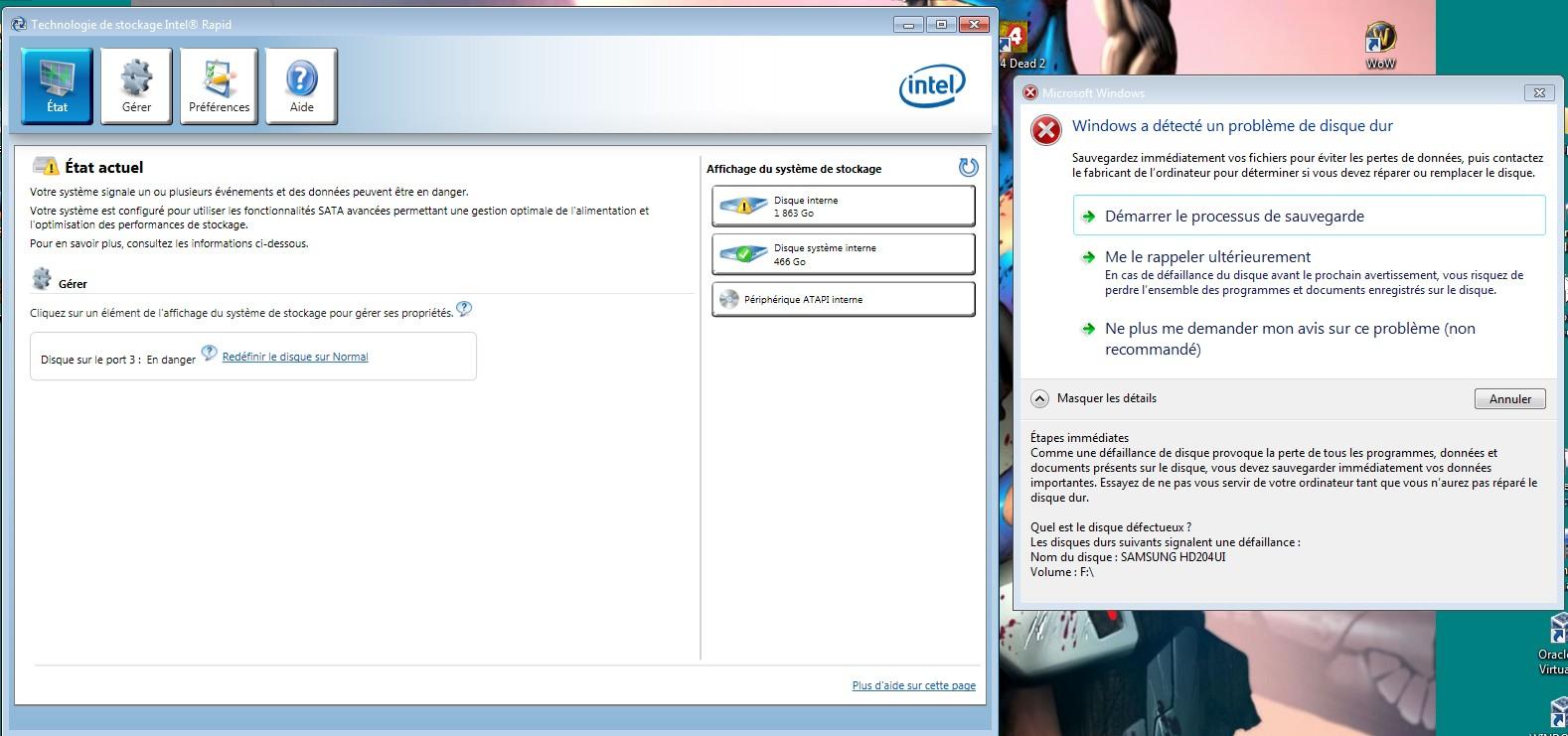Windows 7 : disque dur qui lâche ?! Ddw712