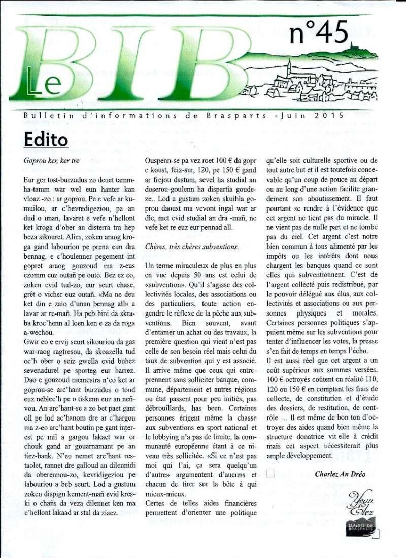 Bulletin d'information de Brasparts n°45 0110