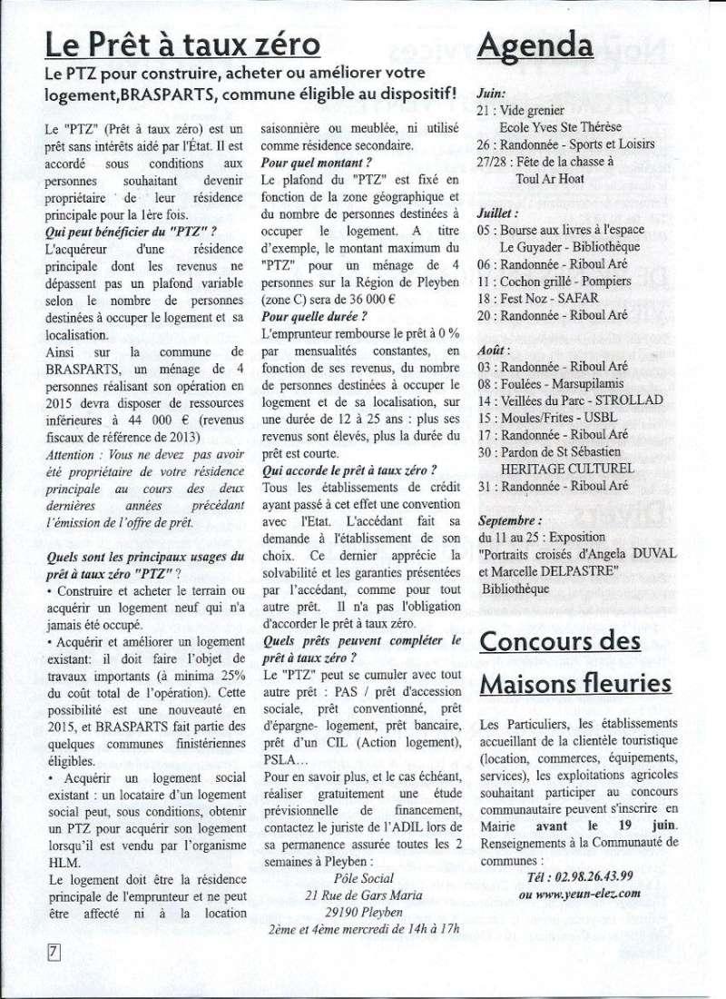 Bulletin d'information de Brasparts n°45 0710