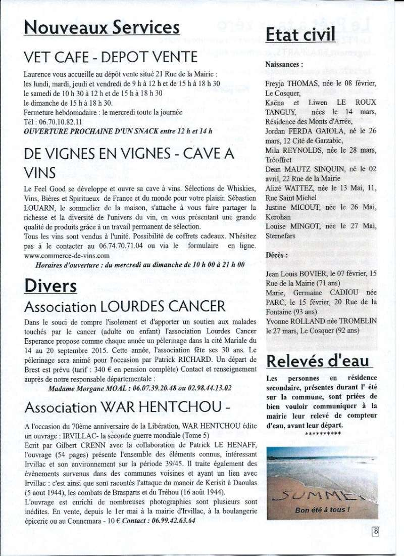 Bulletin d'information de Brasparts n°45 0810