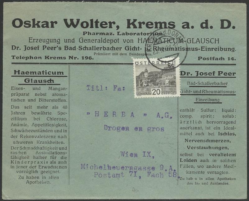 Werbeumschläge und -karten aus Österreich - Seite 3 1931_f10