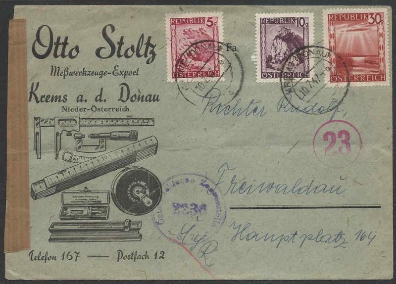 Werbeumschläge und -karten aus Österreich - Seite 3 1947_f10