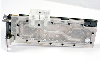 FS- EVGA GTX 690 + EK Nickel Plexi Water Block + Back Plate Black Gtx69010