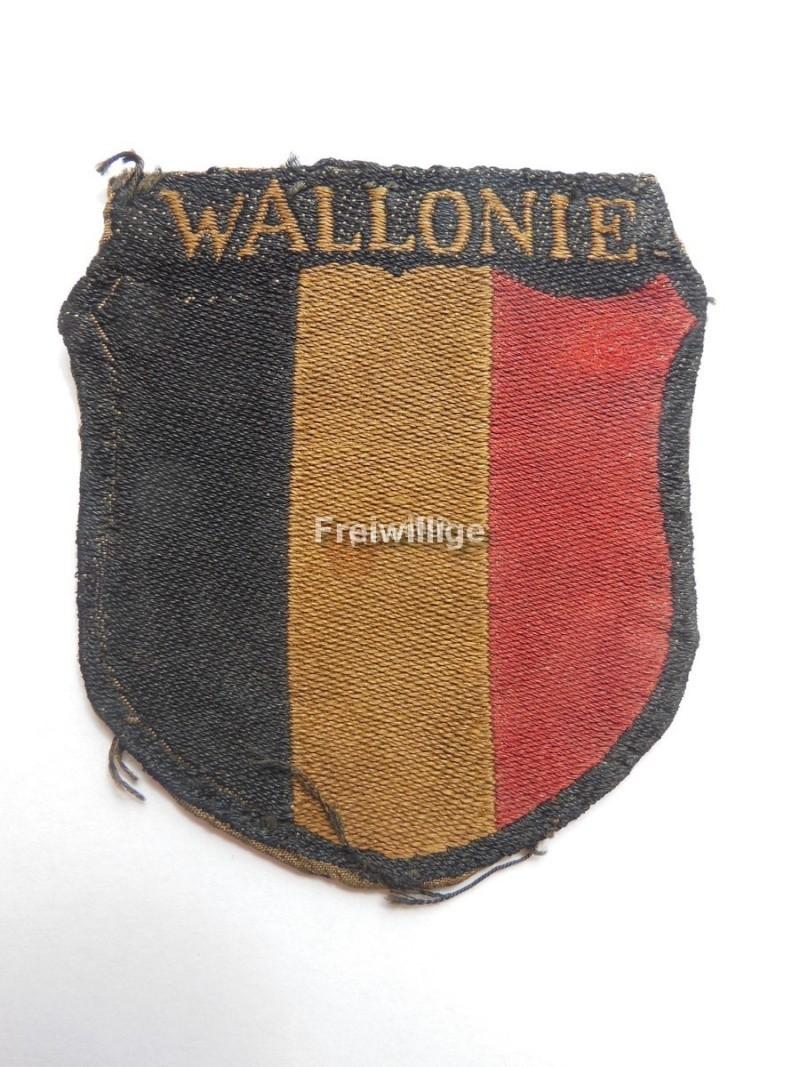 Insigne de bras Legion Wallonie ( état porté) Wallon10