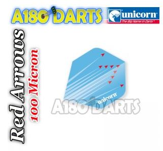 UNICORN MAESTRO 100 RED ARROWS BLUE TOUGH DART FLIGHTS Plus Shape A180_420