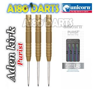 Unicorn Purist Golden 90% Tungsten Darts 22g Aden Kirk A180_424