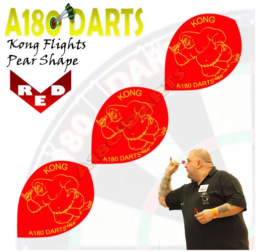 Robbie Green 'Kong' Character Pear Shape Extra Tough Dart Flights A180_467