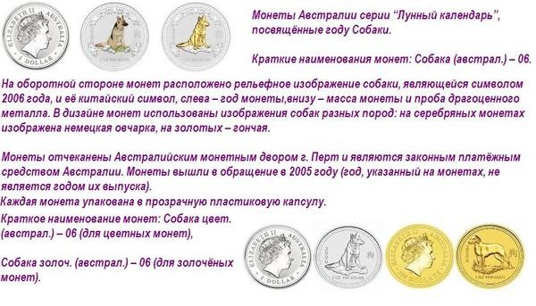 Монеты с собаками 25411