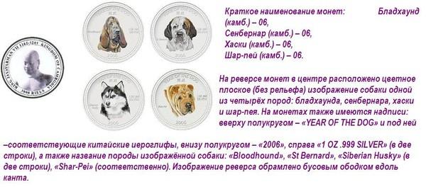 Монеты с собаками 30710