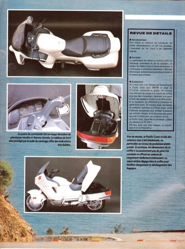 Pacific Coast, la motomobile a du coffre (Moto journal) 00410