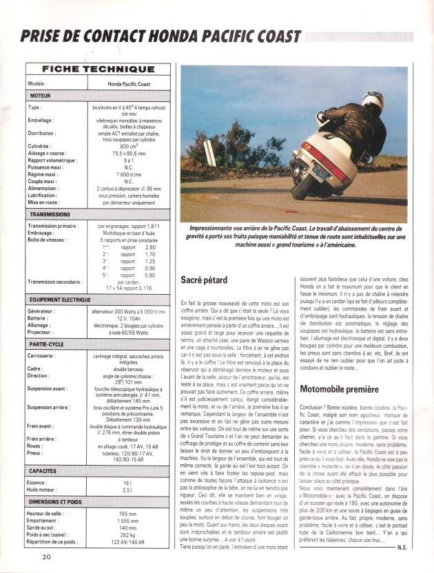 Pacific Coast, la motomobile a du coffre (Moto journal) 00610