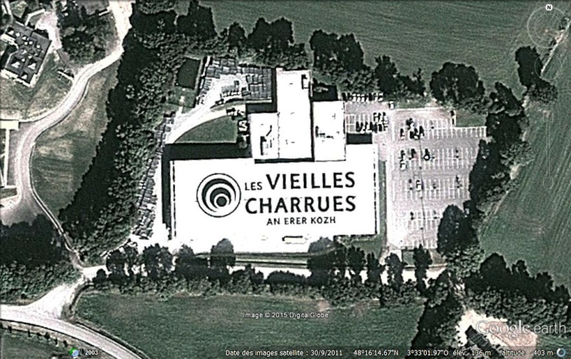 """Ecriture """"Les Vieilles Charrues - an erek kozh"""" à Carhaix (France) Ycritu10"""