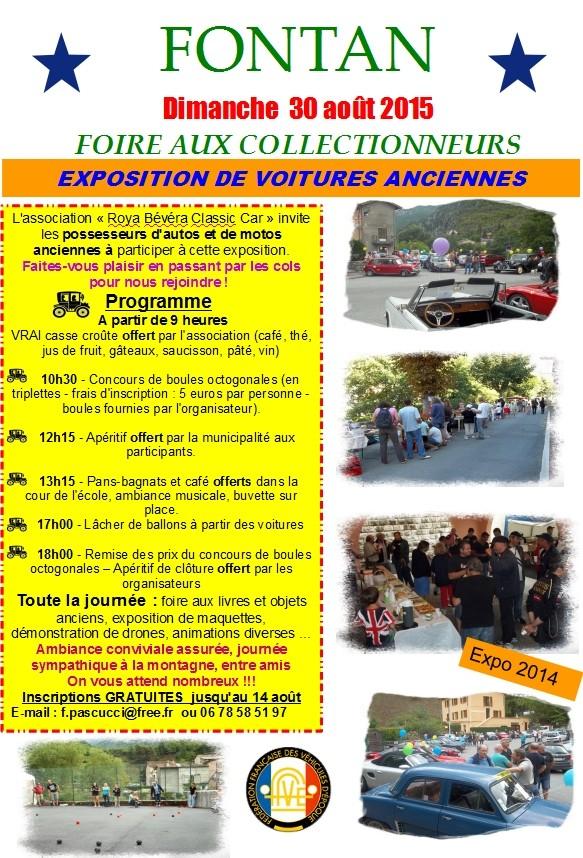 [06] 30 Aout 2015 - Expo véhicules de collection à FONTAN   Foire_10