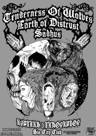 Tenderness of Wolves,Earth of Distrust,Sadhus Live @ Sin City 3/1/10 L_672110