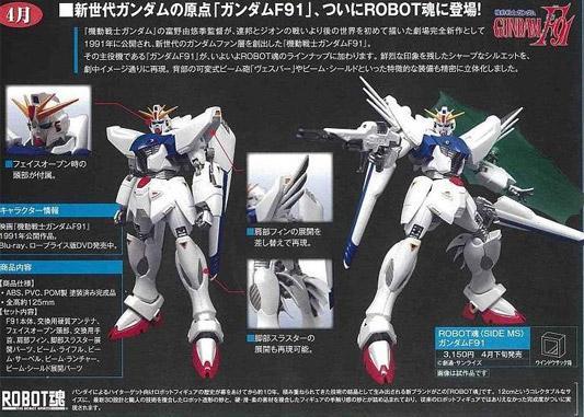 ROBOT SPIRITS GUNDAM F91 Robot_10