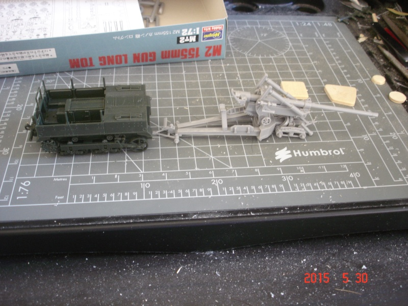 High Speed Tractor M5 et M2 155mm Gun Long Tom [Hasegawa - 1/72] Dsc00125