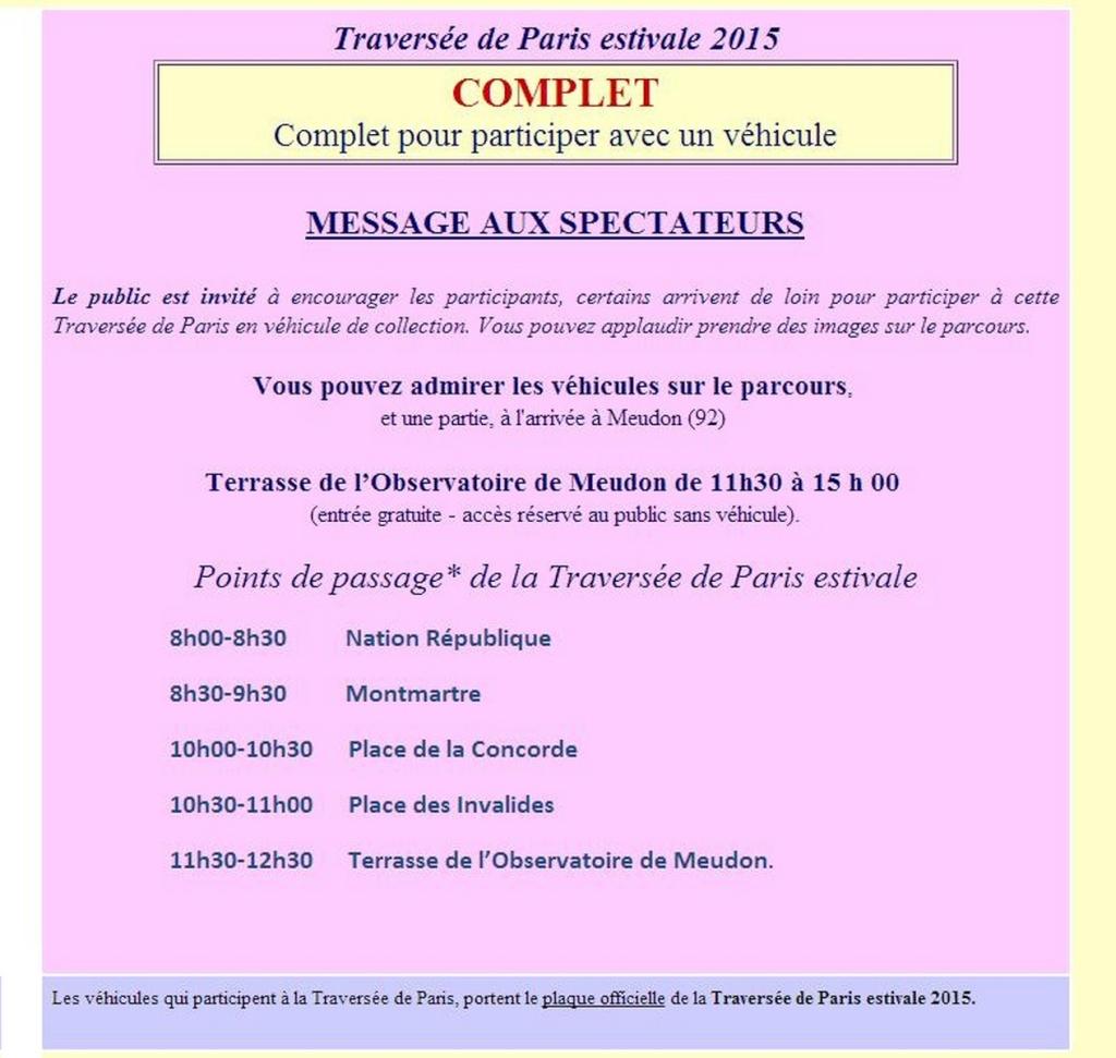 [75][02/08/2015] 8ème Traversée de Paris estivale  A12
